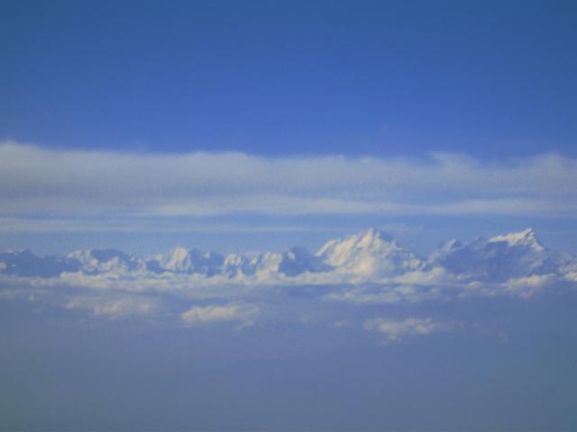 Himalája a repülőgépből